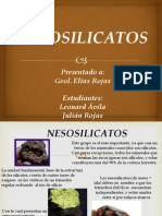 Silicatos - Exp. Nesosilicatos