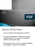 Types of Defined Contribution Plans