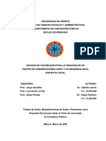 Estudio de Factibilidad Centro de Comunicaciones Cantv