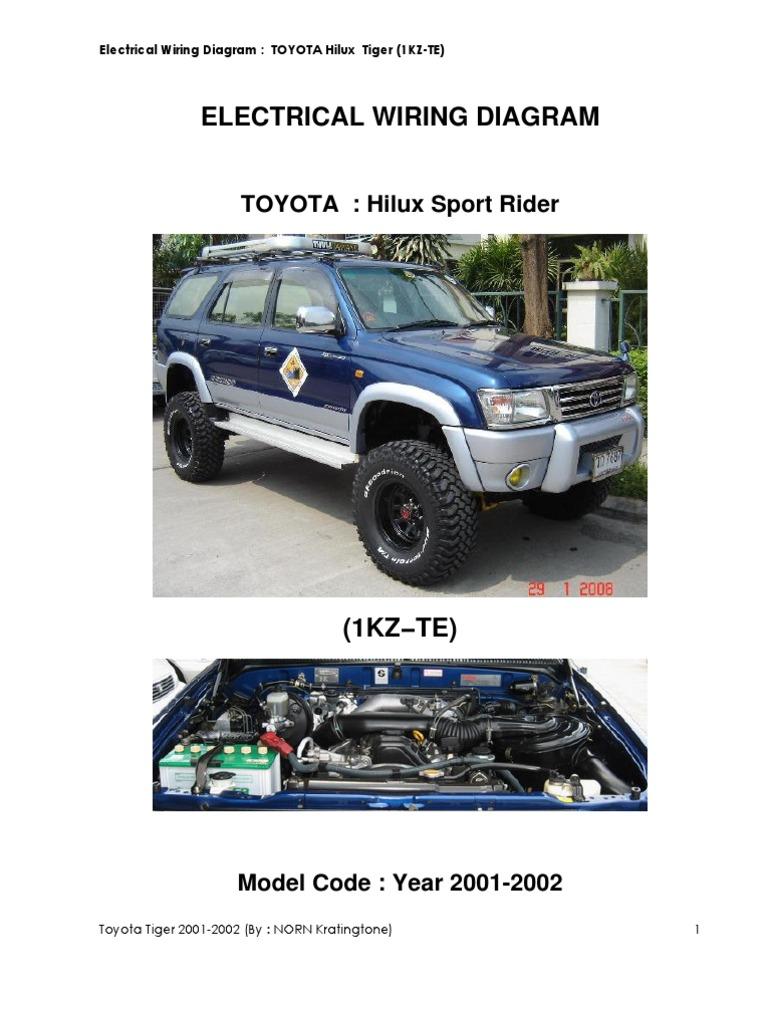Toyota Tiger 1kz 2001 Hilux Wiring Diagram