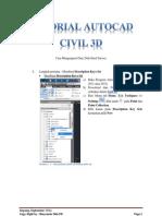 1 Tutorial Autocad Civil 3d Point Data