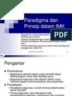 Paradigma Dan Prinsip Dalam IMK