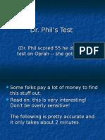 dr phil test