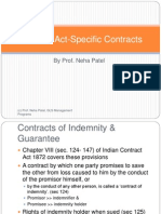 Contract Act-Specific Contracts