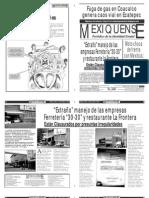 Versión impresa del periódico El mexiquense 18 de octubre 2012
