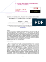 Design and Simulation Analysis of Outer Stator Inner Rotor Dfig by 2d and 3d Finite Element Methods