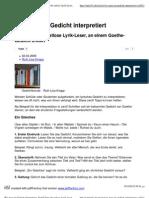 Wie man ein Gedicht interpretiert_ Zwölf Tipps für ratlose Lyrik-Leser, an einem Goethe-Gedicht erklärt _ Suite101.de