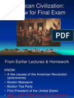 American Civilization FINAL REVIEW