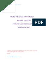 MU0012 Employee Relations Management