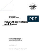 ICAO Abbreviations and Codes - 2007