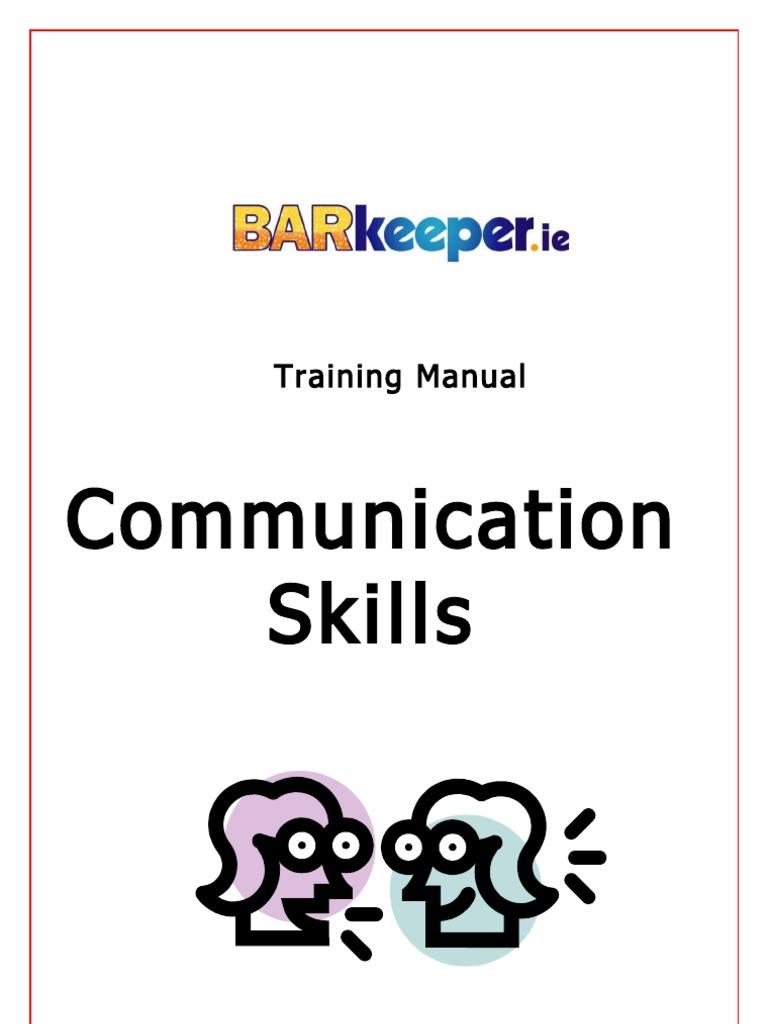 training manual communication body language communication rh scribd com communication skills training manual pdf interpersonal communication skills training manual