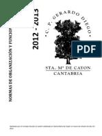 Normas de Organizacion y Funcionamiento Centros 12.13