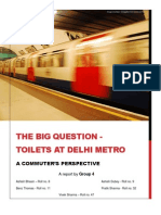 Toilets in Delhi Metro - A Commuters Perspective