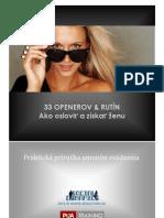 5. OPENERś a RUTINY - Ako osloviť a zbaliť ženu - eBOOK © 2012 SEDUCTION.SK