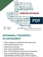Państwo Optimum - Prezentacja Ministerstwa Administracji i Cyfryzacji