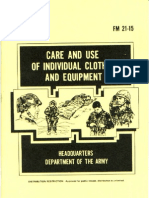 FM 21-15 Care and Use of Individual Clothing and Equipment 1985