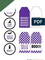 Etiquetas Halloween Lila