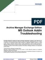 Outlook AddIn Troubleshooting
