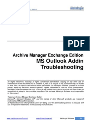 Outlook AddIn Troubleshooting   Microsoft Outlook   Windows Registry
