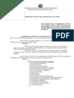 LEI COMPLEMENTAR Nº 473, DE 27 DE AGOSTO DE 2012 - D.O. 27.08.12