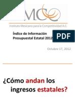Índice de Información Presupuestal (IIPE) 2012 del Imco.