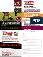 October Half Term - Rugby