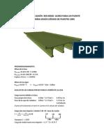Memoria de Calculo Puente 15m flexión. Puente con tablero y vigas