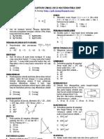 Contoh Smart Solution Un 2013 Matematika Smp