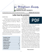 Fall 2011 Blue Ridge Wild Flower Society Newsletter