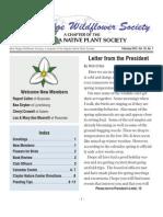 Spring 2012 Blue Ridge Wild Flower Society Newsletter