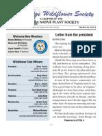 Summer 2012 Blue Ridge Wild Flower Society Newsletter