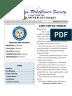 Fall 2012 Blue Ridge Wild Flower Society Newsletter