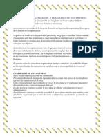 FUNCION DE LA ORGANIZACIÓN  Y CUALIDADES DE UNA EMPRESA