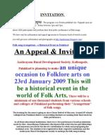 Granathudippu Invitation - World's Largest Folksong presentation