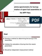 1.3. ALMASI Gamma Spectrometry for Burnup Determination of Spent Fuel Assemblies at the Paks NPP