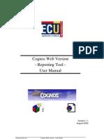 Cognos User Manual