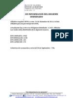 Indicador Regiemn Subsidiado La Apartada