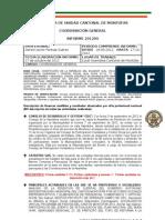 INFORME COORDINACIÓN GENERAL AUCM SEPTIEMBRE 2012