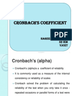 Cronbach Coefficient