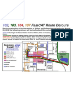 102, 103, 104, 107 FastCAT Route Detours