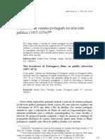 A emissão de cinema português na televisão pública