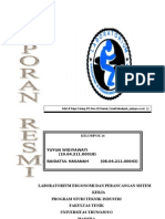 laporan praktikum ergonomi lengkap