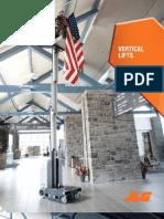 JLG Vertical Lifts Brochure Specs