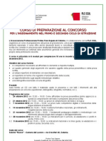 Locandina e Scheda Iscrizione Preparazione Al Concorso Docenti