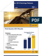 Union Pacific Q3 2012 EPS Slides