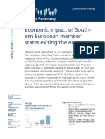 ECONOMIC IMPACT OF SOUTHERN EUROPEAN MEMBER STATES EXITING THE EUROZONE
