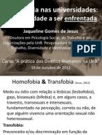 Homofobia Nas Universidades
