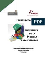 FICHAS DIDÁCTICAS MATERIALES DE LA MOCHILA PARA EXPLORAR