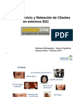 Calidad de Servicio y Retención de Clientes en entornos B2C