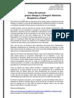 BQ.critica Del Articulo.(Omegas 3 y 6)Docx